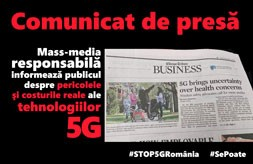 Comunicat de presa STOP 5G