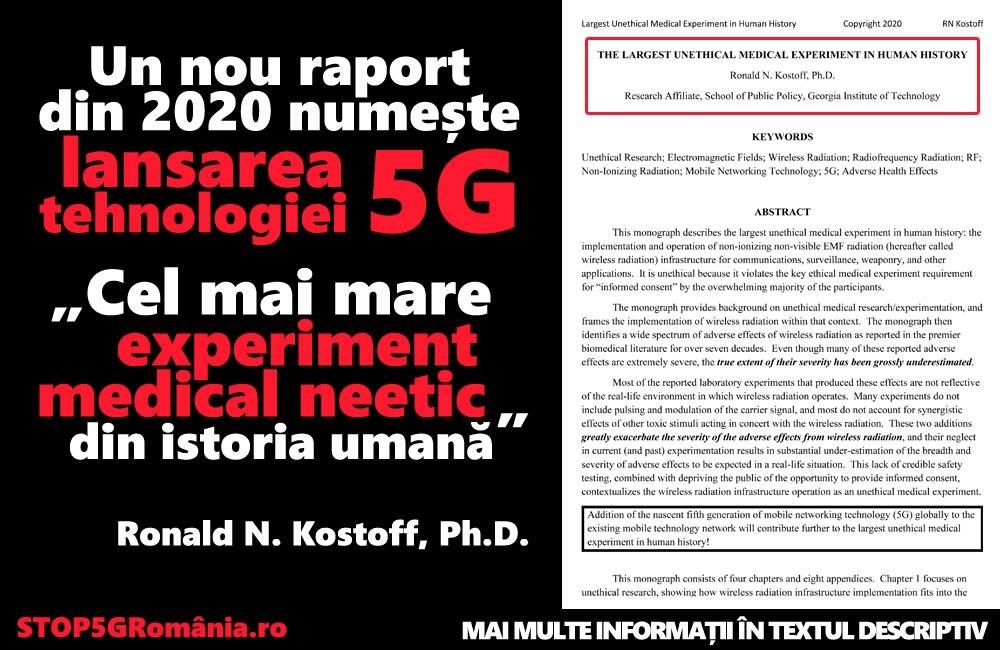 CEL MAI MARE EXPERIMENT MEDICAL NEETIC DIN ISTORIA UMANITATII! Dr. Ronald N. Kostoff